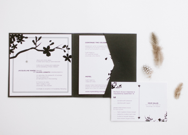 Jacqueline + Glenn Wedding Invitation